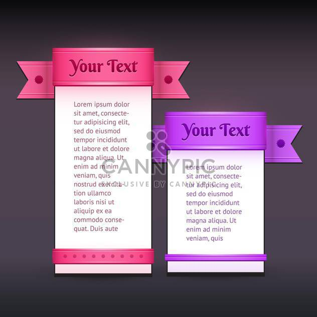 Vector banners with colorful ribbons - Free vector #128868