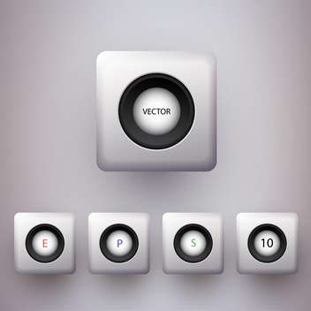 Vector set of colorful 3d buttons. - vector gratuit #128878