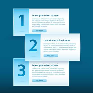 Vector web banners with numbers and read more button - vector #128908 gratis