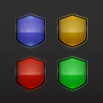 set of vector shields background - vector gratuit #128998