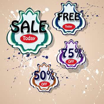 set of vector shopping sale labels - vector gratuit #129038
