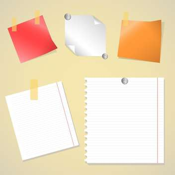 office vector stickers set - бесплатный vector #129068