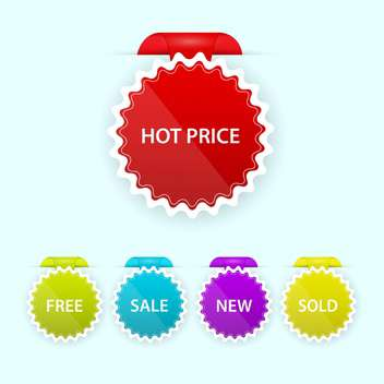 colorful shopping sale badges collection - vector #129108 gratis