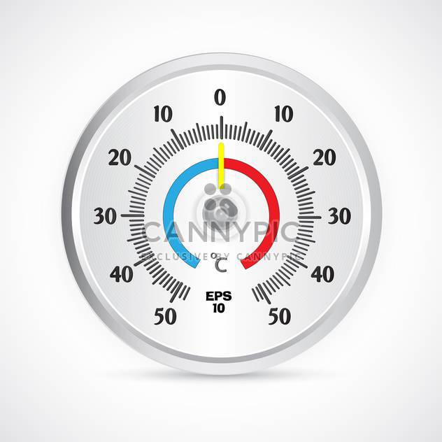 Runde Thermometer Vektor-illustration - Kostenloses vector #129148