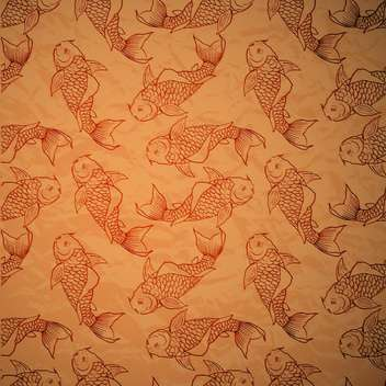 seamless pattern with vector catfish - vector gratuit #129158
