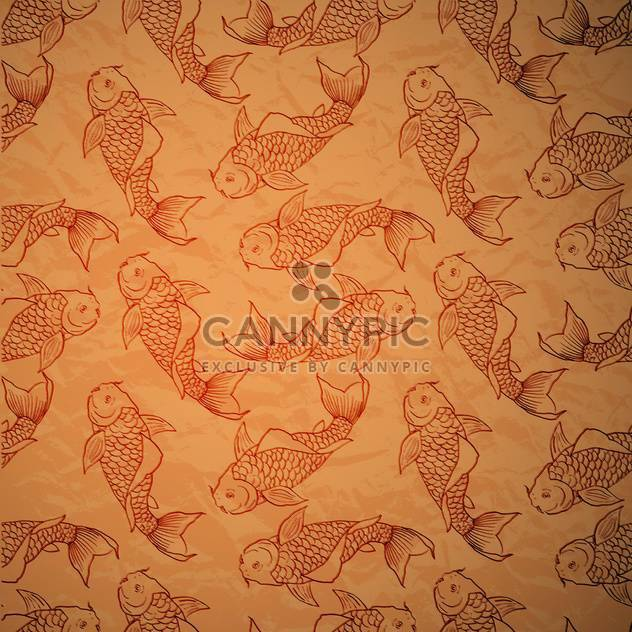 seamless pattern with vector catfish - Free vector #129158