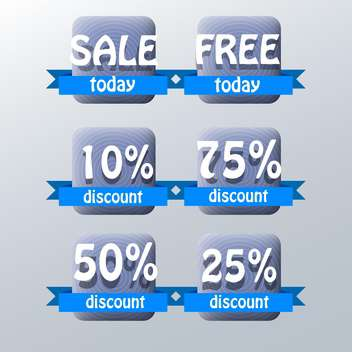 set of vector shopping sale labels - vector gratuit #129168