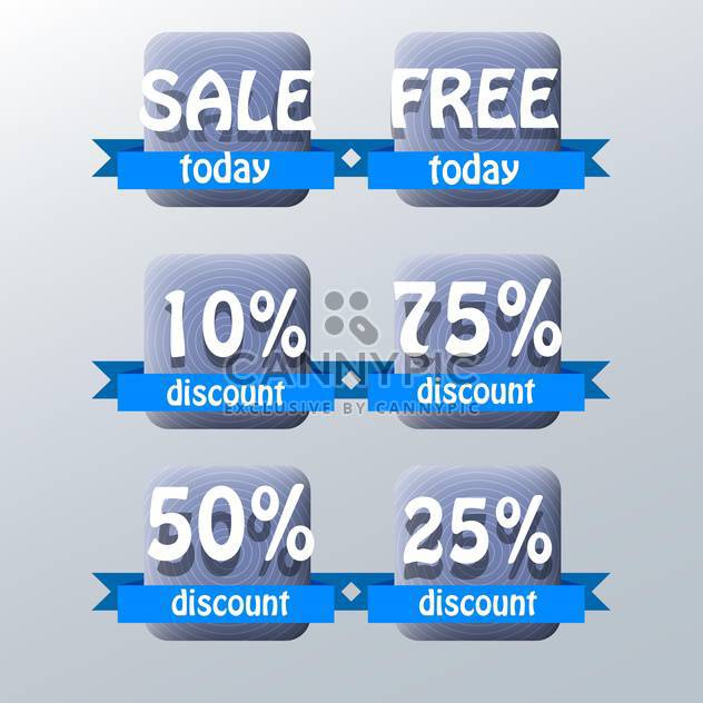 set of vector shopping sale labels - Free vector #129168
