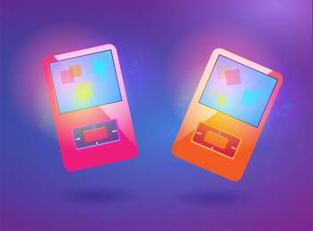 set of vector media players - vector #129208 gratis