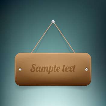 vector wooden banner on wall - vector gratuit #129248