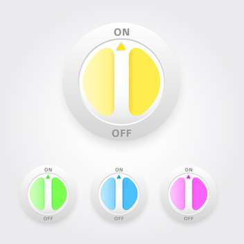 on and off buttons set - vector gratuit #129258
