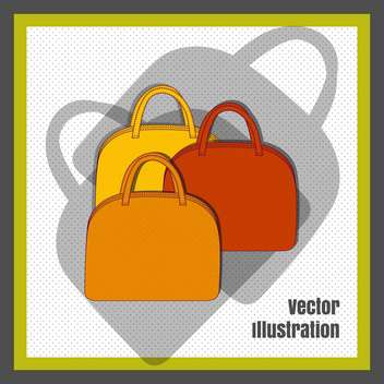 female fashion bags set - vector gratuit #129268