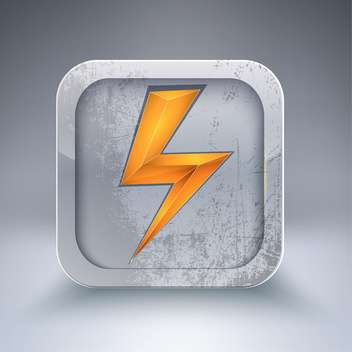 Vector electricity icon with orange lightning bolt - Kostenloses vector #129318