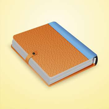 Vector illustration of closed dairy book on yellow background - vector gratuit #129368