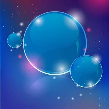 Vector shiny transparent bubbles on blue background - vector gratuit #129388