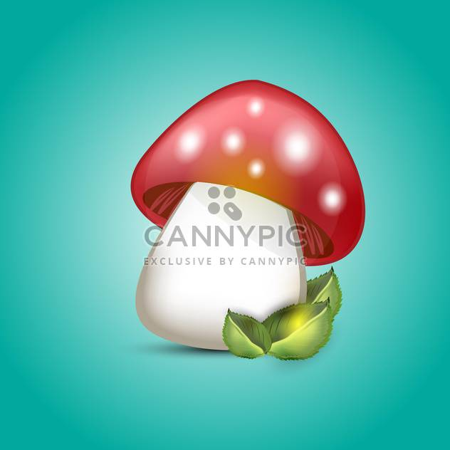 Vector illustration of amanita mushroom on green background - Kostenloses vector #129458