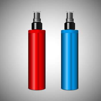 Vector illustratio of red and blue cosmetic containers - Free vector #129518