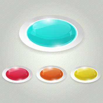 Vector glossy colorful buttons - vector gratuit #129528