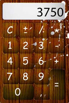 Vector wooden calculator with drops and numbers - бесплатный vector #129548