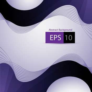 Abstract vector purple background with waves - vector gratuit #129868