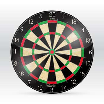 Vector darts board on white background - vector gratuit #129878