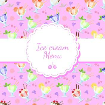Vector colorful background for ice cream menu - vector gratuit #129908
