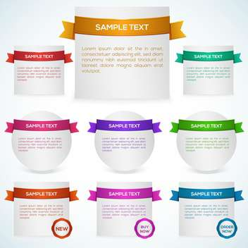 Vector set of banners with ribbon - vector gratuit #129918