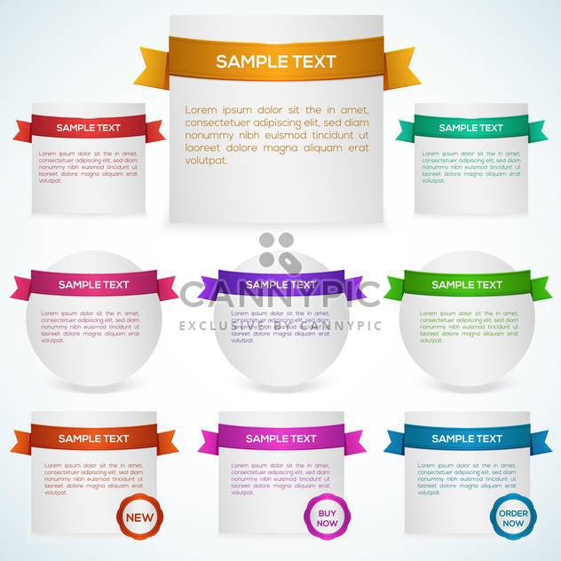 Vector set of banners with ribbon - Free vector #129918