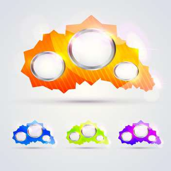Colorful glossy banners for message - vector gratuit #129968