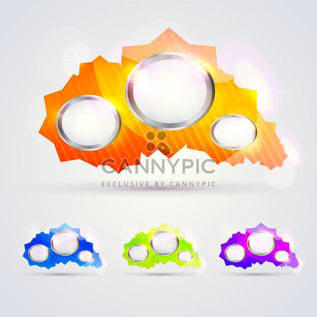 Colorful glossy banners for message - Free vector #129968