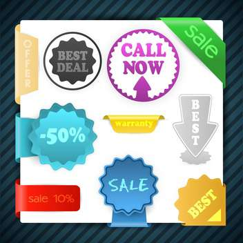 Set of vector sale signs, labels, badges, stickers - vector gratuit #129978