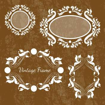 Set of vector decorative vintage frames - vector gratuit #130018