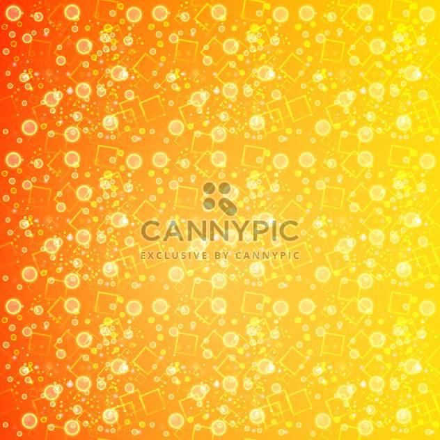 Abstract orange background with circles and squares - Free vector #130048