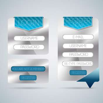 Vector login form template in modern design - vector gratuit #130088