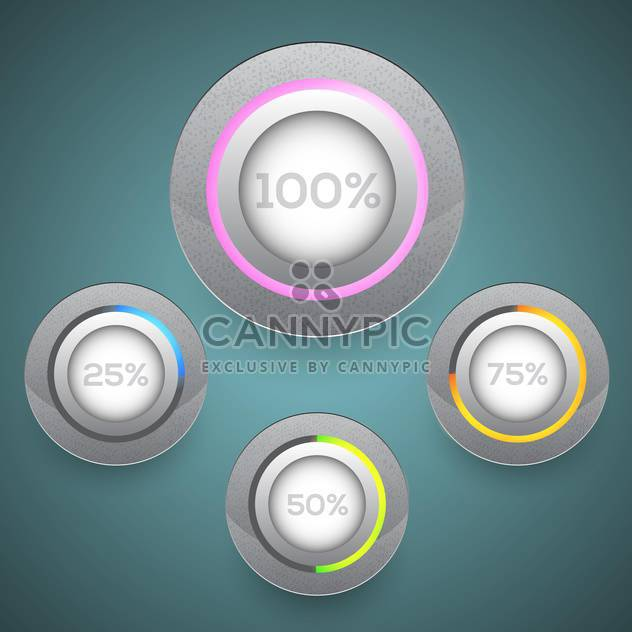 Vector set of loading buttons - Free vector #130158