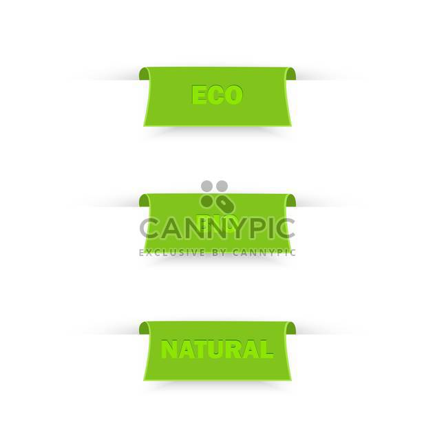 Vector illustration of bio and eco labels - Free vector #130248