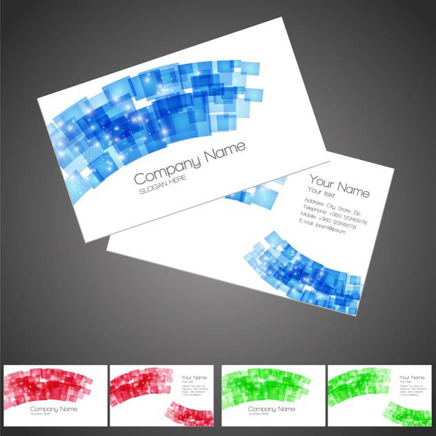 abstract creative business cards - vector #130288 gratis
