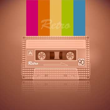 retro audio cassette tape - vector gratuit #130338