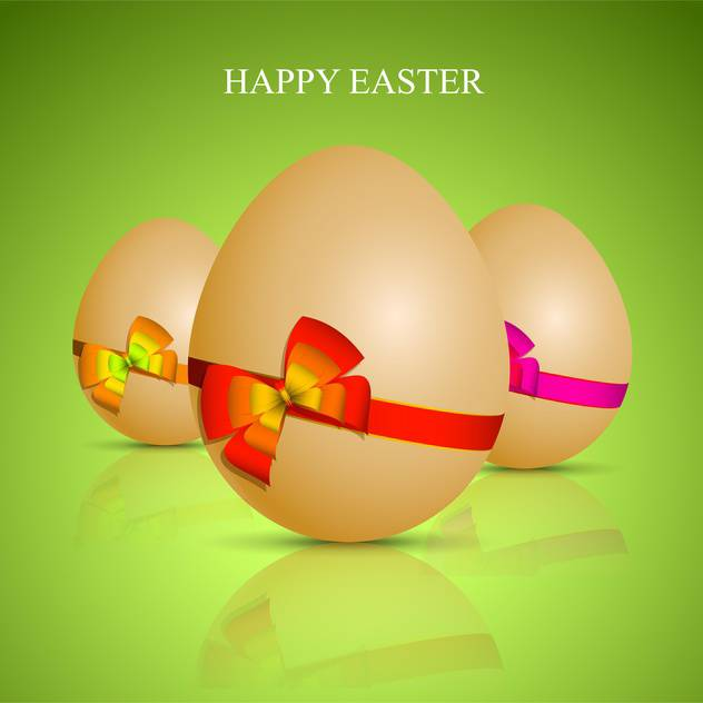 Happy easter greting card - vector gratuit #130398