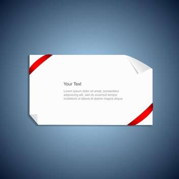 A sheet of paper with red ribbons - Free vector #130418