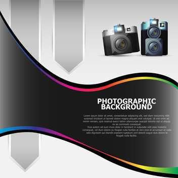 Vector photographic background with cameras - vector gratuit #130458