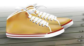 vector male sneakers illustration - vector gratuit #130498