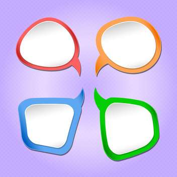 Vector set of colorful speech bubbles - Free vector #130548