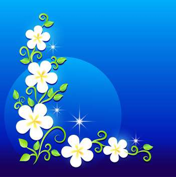 Greeting card with beautiful flowers - vector gratuit #130568