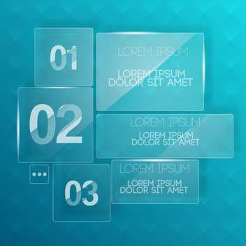vector background with transparent glass plates - vector #130578 gratis