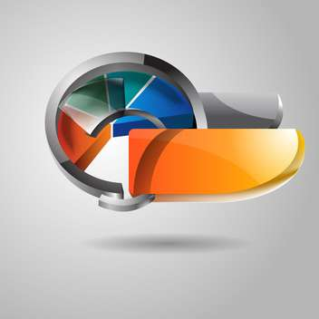 Abstract vector glossy icon on grey background - vector gratuit #130668