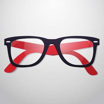 vector illustration of retro glasses on grey background - vector gratuit #130688