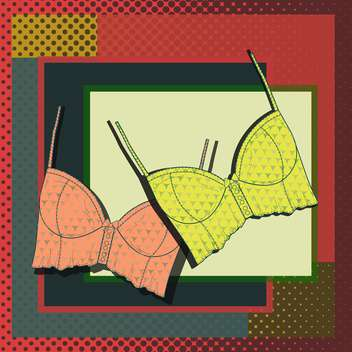 vector illustration of fashion lingerie card - vector gratuit #130718