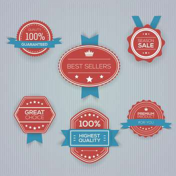 vector illustration of shopping labels collection - vector gratuit #130748