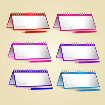 Vector set of papers and pencils with text place - Free vector #130778